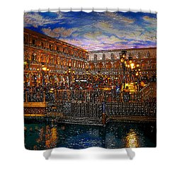 An Evening In Venice Shower Curtain by David Lee Thompson