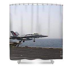 An Fa-18c Hornet Takes Shower Curtain by Stocktrek Images