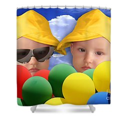 An Image Of A Photograph Of Your Child. - 07a Shower Curtain