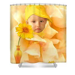 An Image Of A Photograph Of Your Child. - 09 Shower Curtain