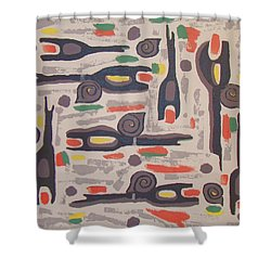 An Impression Of Nature Shower Curtain by Olivia  M Dickerson