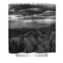 An Incoming Storm Over The Black Hills Of South Dakota Shower Curtain