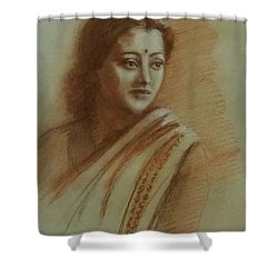 An Indian Actress Shower Curtain