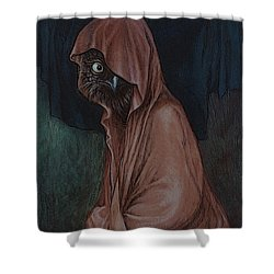 An Introvert Shower Curtain