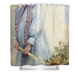 An Italian Peasant Girl Shower Curtain by Ada M Shrimpton