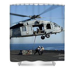 An Mh-60s Sea Hawk Helicopter Prepares Shower Curtain by Stocktrek Images