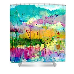 An Oasis In The Desert Shower Curtain by Hazel Holland