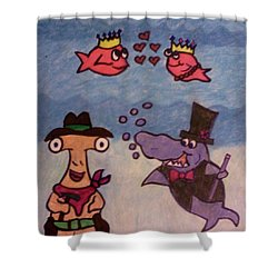 An Ocean Halloween Shower Curtain by Christy Saunders Church