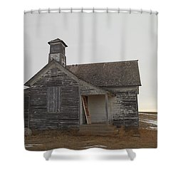 An Old Church On The Prairie  Shower Curtain by Jeff Swan