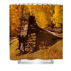 An Old Colorado Mine In Autumn Shower Curtain by Jeff Swan