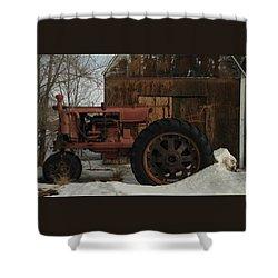 An Old John Deer Shower Curtain by Jeff Swan