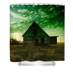 An Old North Dakota Farm House Shower Curtain by Jeff Swan