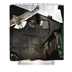 An Unexpected Messenger Shower Curtain by Michel Verhoef