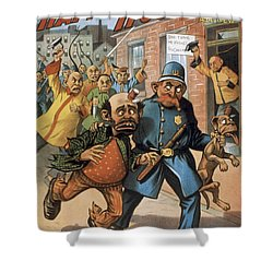 An Uprising In China Shower Curtain by Aged Pixel