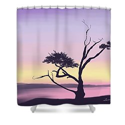 Shower Curtain featuring the digital art Anacortes by Terry Frederick