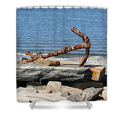 Shower Curtain featuring the photograph Anchor by Karen Silvestri