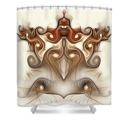 Ancient Carving Shower Curtain
