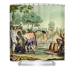 Ancient Celts Or Gauls Sacrificing Shower Curtain by Vittorio Raineri