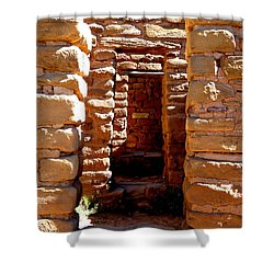 Shower Curtain featuring the photograph Ancient Doorways by Alan Socolik