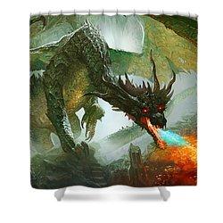 Ancient Dragon Shower Curtain