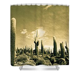 Ancient Giants Shower Curtain by Lana Enderle