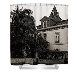 Ancient Hotel And Lush Trees  Shower Curtain