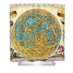 Ancient Map Of The World Shower Curtain by Gianfranco Weiss