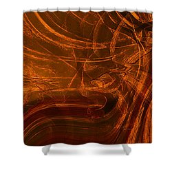 Shower Curtain featuring the digital art Ancient by Richard Thomas