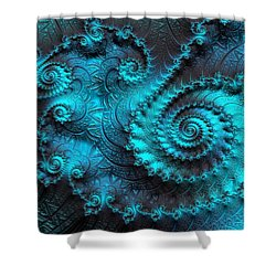 Ancient Verdigris -- Triptych 2 Of 3 Shower Curtain