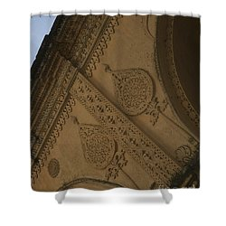 Shower Curtain featuring the photograph Ancient Wall by Mini Arora