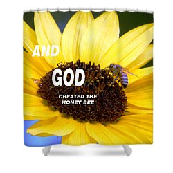 And God Created The Honey Bee Shower Curtain