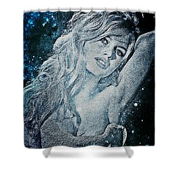 And God Created Woman Shower Curtain by Absinthe Art By Michelle LeAnn Scott