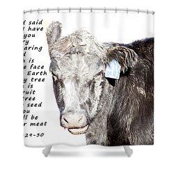 And God Said Shower Curtain by Janice Rae Pariza