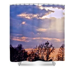 Shower Curtain featuring the photograph And Heaven Spoke by Lesa Fine
