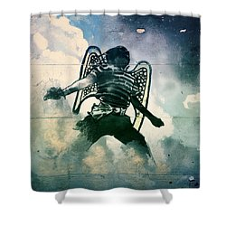 And I Heard As It Were The Noise Of Thunder.. Shower Curtain by A Rey