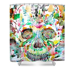 And Joining At Last Its Mighty Origin Shower Curtain by Fabrizio Cassetta
