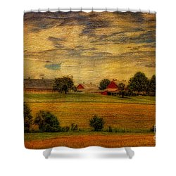 And The Livin' Is Easy Shower Curtain by Lois Bryan