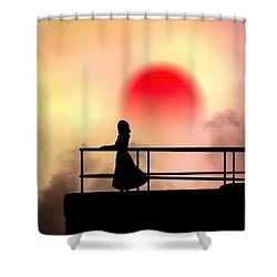 And The Sun Also Rises Shower Curtain by Bob Orsillo