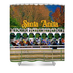 And They're Off At Santa Anita Shower Curtain