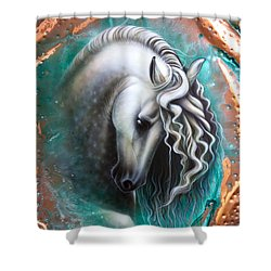 Andalusian - Copper Shower Curtain