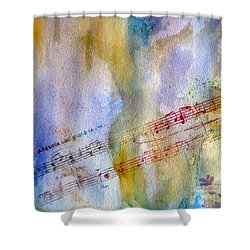 Shower Curtain featuring the painting Andante Con Moto by Sandy McIntire