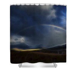 Andean Rainbow Shower Curtain by William Horden