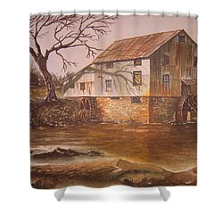 Anderson Mill Shower Curtain by Ben Kiger