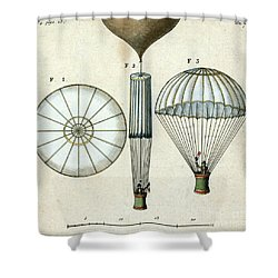 Andre Jacques Garnerins Parachute 1797 Shower Curtain by Science Source