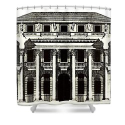 Chiericati House Plan Andrea Palladio Shower Curtain