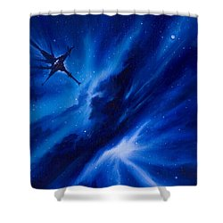 Andreas Nebula Shower Curtain by James Christopher Hill