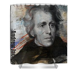 Andrew Jackson Shower Curtain by Corporate Art Task Force