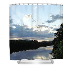 Androscoggin River Reflections Shower Curtain