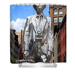 Andy Warhol Shower Curtain by Mark Ashkenazi