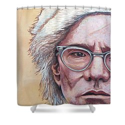 Andy Warhol Shower Curtain by Tom Roderick